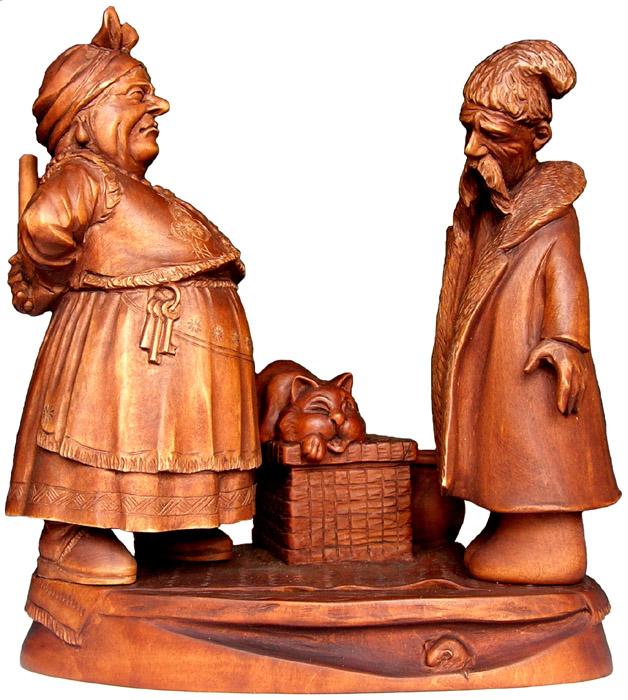 Семья 2007, деревянная скульптура. Резьба по дереву. Сувенирная продукция. Бизнес сувенир. Оригинальный подарок в традициях народных промыслов Украины.