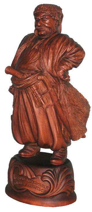 Гетьман, деревянная скульптура, Резьба по дереву. Сувенир. Оригинальный  подарок в традициях народных промыслов Украины. Сувенирная продукция. (89,7 КБ)