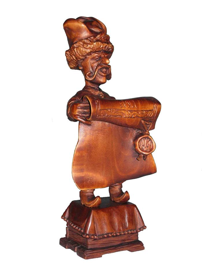 Глашатай, деревянная скульптура. Резьба по дереву. Сувенирная продукция. Бизнес сувенир. Оригинальный подарок в традициях народных промыслов Украины.