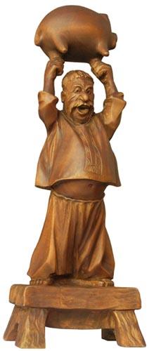 статуэтка Копилка, деревянная скульптура, вид 1. Резьба по дереву. Бизнес сувенир. Оригинальный  подарок в традициях народных промыслов Украины. Сувенирная продукция. (38 КБ)