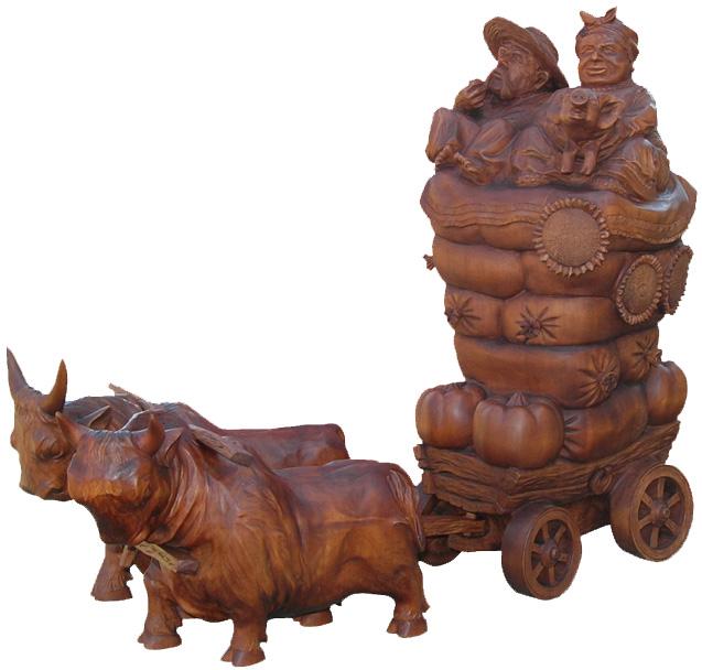 На ярмарку, Изобразительное искусство, деревянная скульптура. Резьба по дереву. Сувенирная продукция. Бизнес сувенир. Оригинальный подарок в традициях народных промыслов Украины.