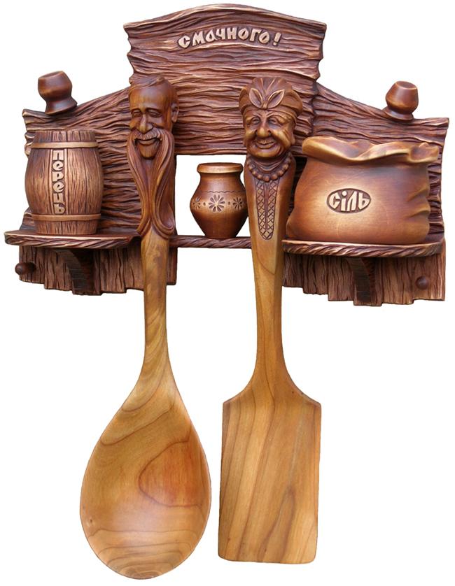 Набор кухонный, вид 1.Резьба по дереву. Сувенир. Оригинальный подарок в традициях народных промыслов Украины. Сувенирная продукция. (89,7 КБ)