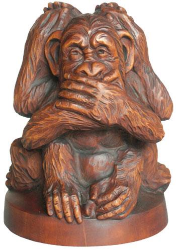 статуэтка Три обезъянки, деревянная скульптура, вид 1.Резьба по дереву. Бизнес сувенир. Оригинальный  подарок в традициях народных промыслов Украины. Сувенирная продукция. (89,7 КБ)