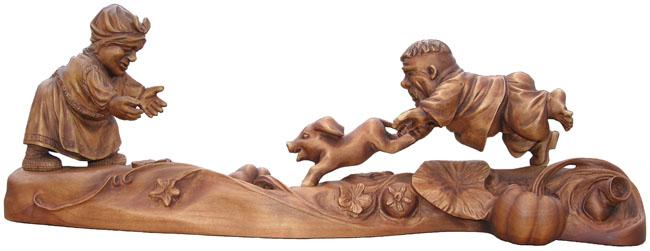 эксклюзивный подарок Поймали, деревянная скульптура, вид 3. Резьба по дереву. Бизнес сувенир. Оригинальный подарок в традициях народных промыслов Украины. Сувенирная продукция. (47,3.1 КБ)