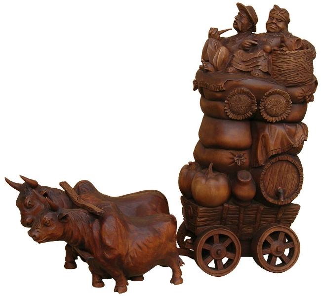 На ярмарку 2010, Изобразительное искусство, деревянная скульптура. Резьба по дереву. Сувенирная продукция. Бизнес сувенир. Оригинальный  подарок в традициях народных промыслов Украины.